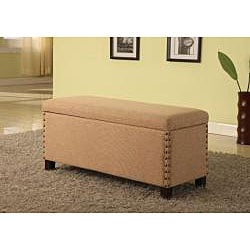 Nailhead Linen Storage Bench