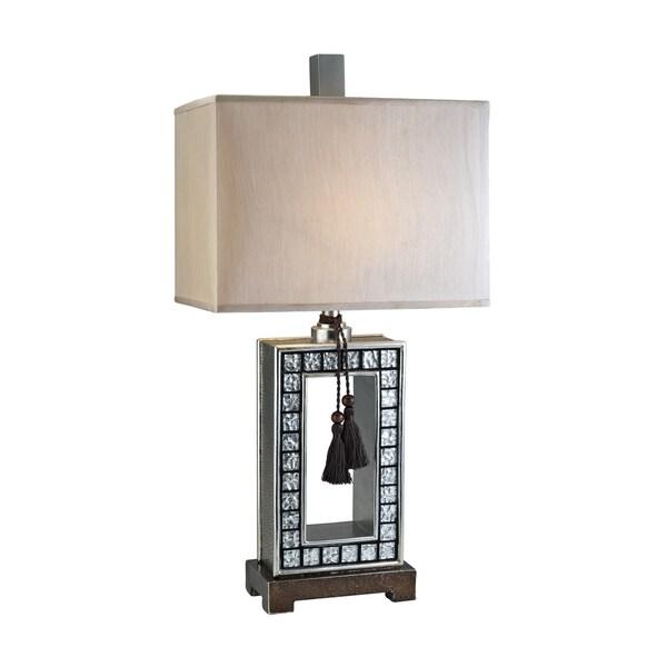 Bilston Mirror Tile Table Lamp