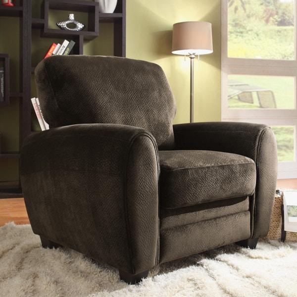 Daventry Chocolate Microfiber Chair