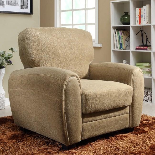 Daventry Light Brown Microfiber Arm Chair