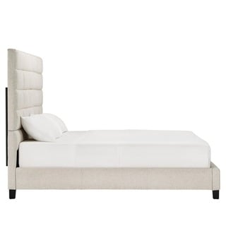 Tower High Profile Upholstered King Bed by MID-CENTURY LIVING