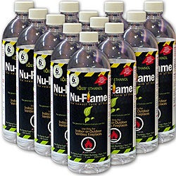 Nu-Flame Liquid Bio-ethanol Fireplace Fuel with Safety Valve (Set of 12)
