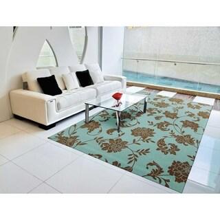 Nourison Home and Garden Light Blue Indoor/Outdoor Rug (7'9 x 10'10)