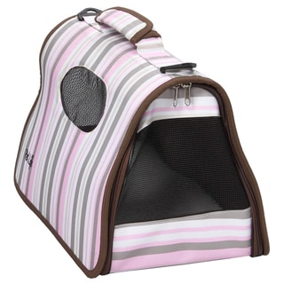 Pet Life Airline Approved Zippered Folding Collapsible Pet Dog Carrier Crate