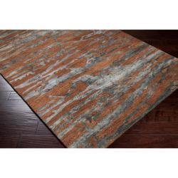 Hand-tufted Brown Caparo Street Abstract Wool Rug (5' x 8') - Thumbnail 1