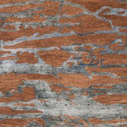 Hand-tufted Brown Caparo Street Abstract Wool Rug (5' x 8') - Thumbnail 2
