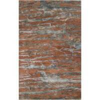 Hand-tufted Brown Caparo Street Abstract Wool Area Rug (8' x 11')