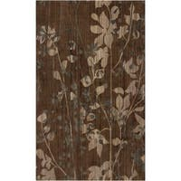 Hand-knotted Brown Barrack New Zealand Wool Area Rug - 5' x 8'