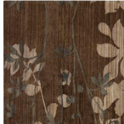 Hand-knotted Brown Barrack New Zealand Wool Rug (8' x 11') - Thumbnail 1