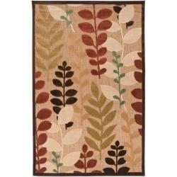 Woven Beige Cladagh Indoor/Outdoor Floral Rug (7'10 x 10'8)