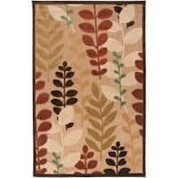 Pine Canopy Sierra Woven Beige Floral Area Rug - 7'10 x 10'8'