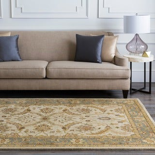 Hand-tufted Beige Caven New Zealand Wool Rug (9' x 13')