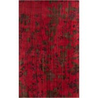 Hand-knotted Burgundy Barrack New Zealand Wool Area Rug (5' x 8')