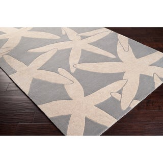 Somerset Bay Hand-Tufted Bacelot Bay Grey Beach-Inspired Wool Area Rug (5' x 8')