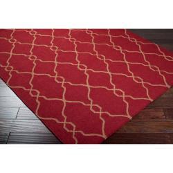 Hand-woven Brown Faller Wool Rug (9' x 13') - Thumbnail 1