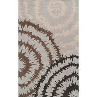 Hand-tufted Gray Diego Martin Abstract Plush Wool Area Rug - 9' x 12'