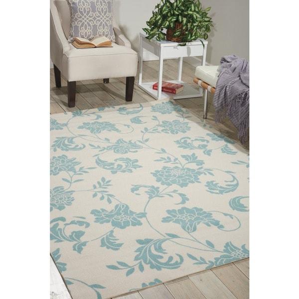 Home And Garden Rugs: Shop Nourison Home And Garden Ivory Indoor/Outdoor Rug