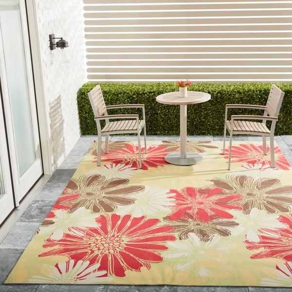 Outdoor Rug 7 X 10: Shop Nourison Home And Garden Green Indoor/Outdoor Rug