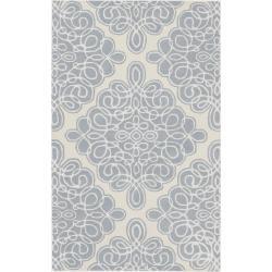 Hand-tufted Cream Cane Geometric Pattern Wool Rug (3'3 x 5'3)