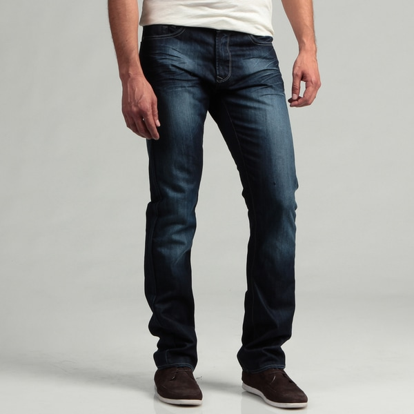 Projek Men's Dark Blue Distressed Denim Jeans
