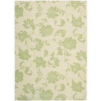 Casual Nourison Home and Garden Green Indoor/ Outdoor Polyester Rug - 7'9 x 10'10