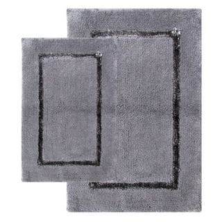 Greenville Pewter Grey 2-piece Bath Rug Set - Includes BONUS Step Out Mat|https://ak1.ostkcdn.com/images/products/6749462/P14293139.jpg?impolicy=medium