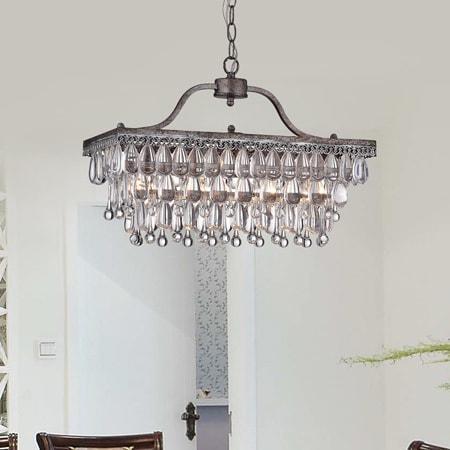 glass drop light fixture crystal glass drop 3light antique silver chandelier shop free