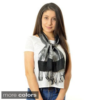 LA77 Women's Metallic Rose Scarf