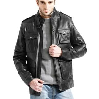 Men's Black Buffalo Leather Jacket|https://ak1.ostkcdn.com/images/products/6749545/P14293150.jpg?impolicy=medium