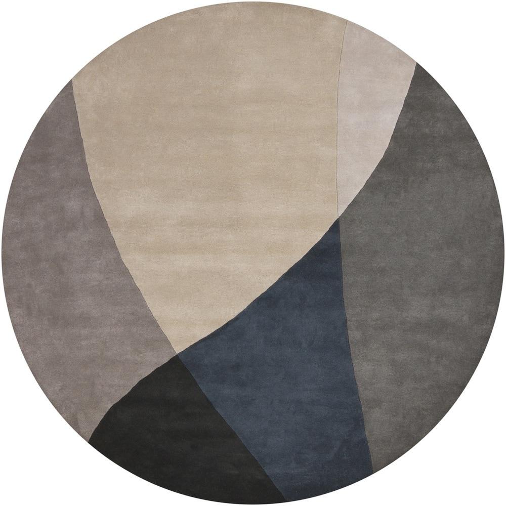 Hand-tufted Mandara Grey Wool Rug (7'9 Round)