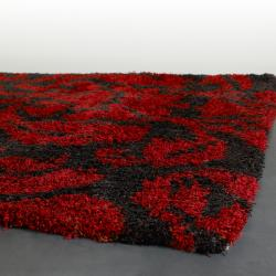 Hand-tufted Mandara Grey Wool Rug (7'9 Round) - Thumbnail 1