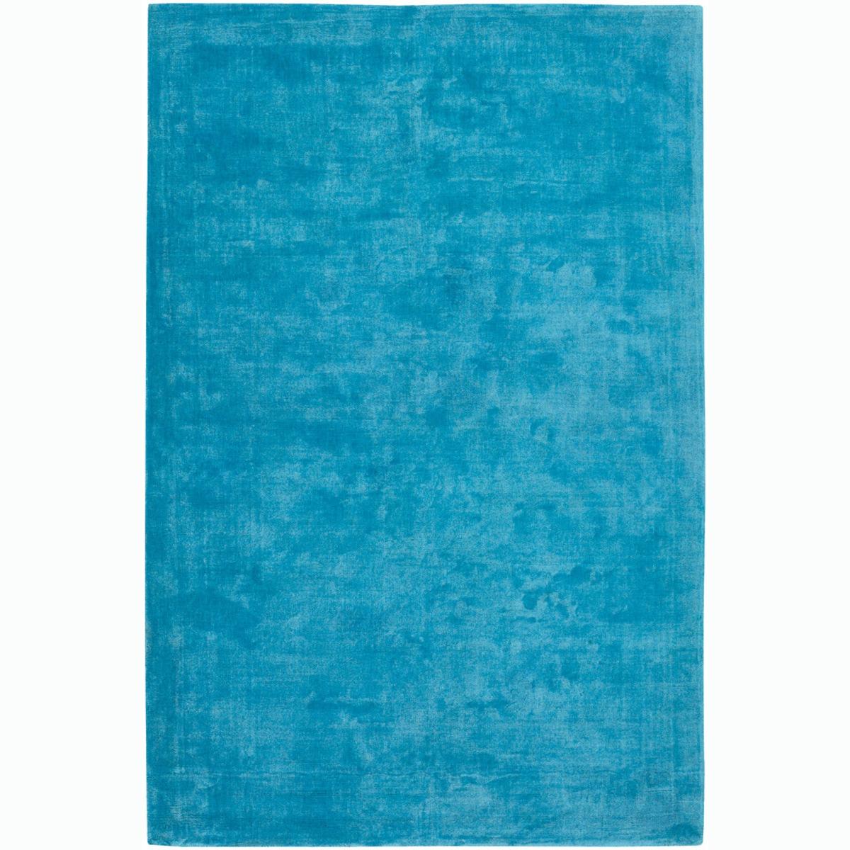 "Large Handwoven Mandara Blue Rug (5' x 7'6"")"