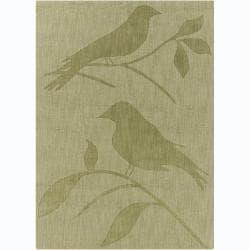 Artist's Loom Hand-tufted Transitional Animal Print Wool Rug (5'x7')