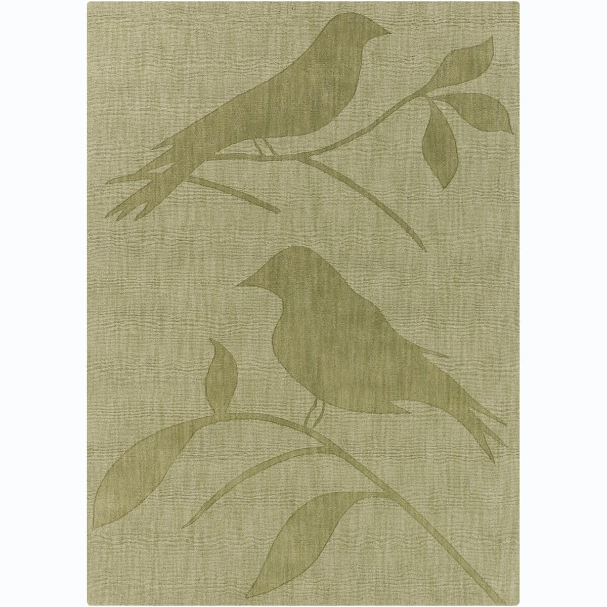 Artist's Loom Hand-tufted Transitional Animal Print Wool Rug - 7' x 10'