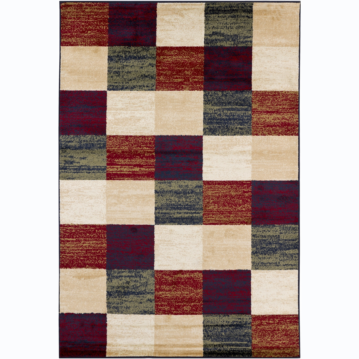 Artist's Loom Indoor Contemporary Geometric Rug (5'3 x 7'9)