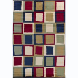 Artist's Loom Indoor Contemporary Geometric Rug (4' x 6') - 4' x 6'