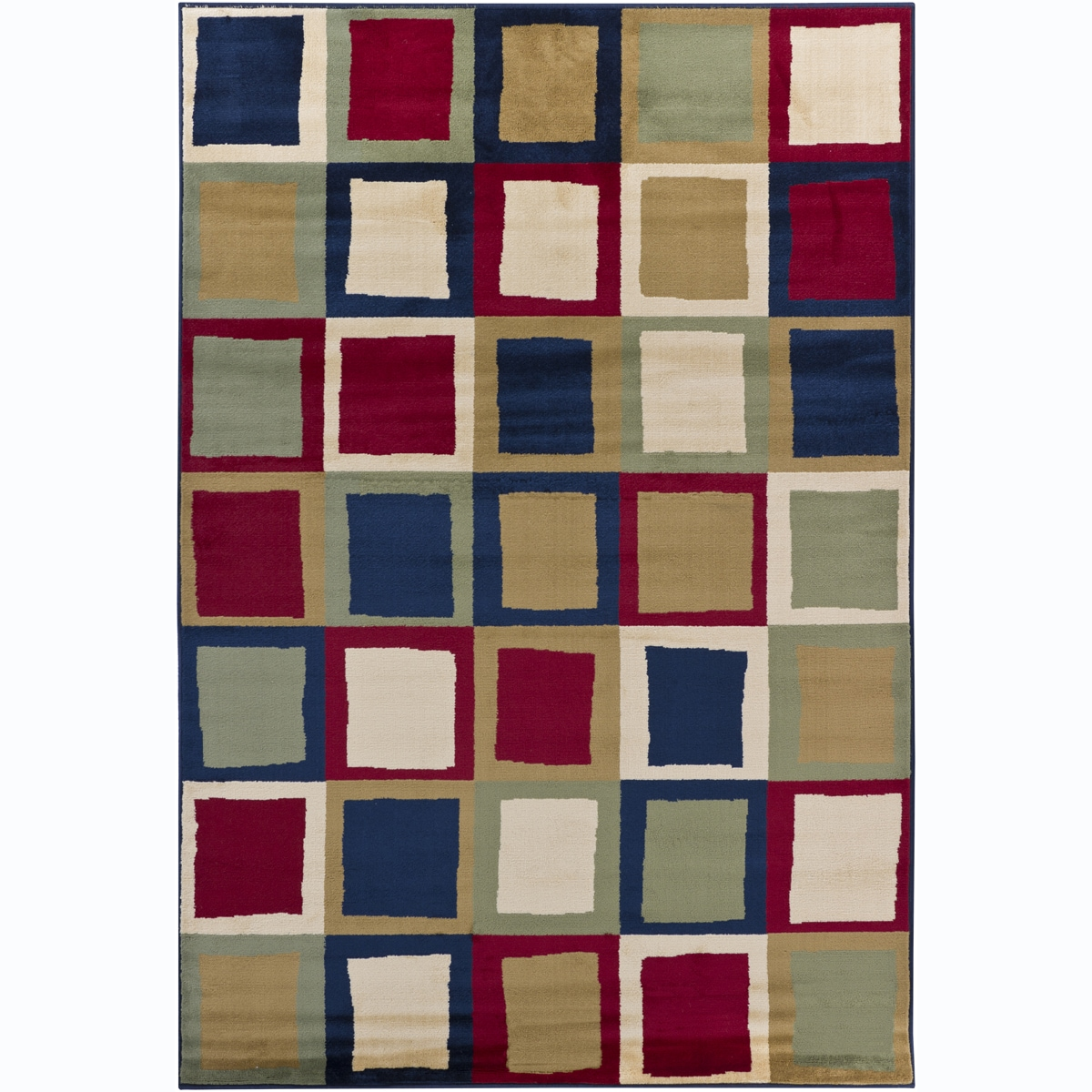 Artist's Loom Indoor Contemporary Geometric Rug - 5'3 x 7'9