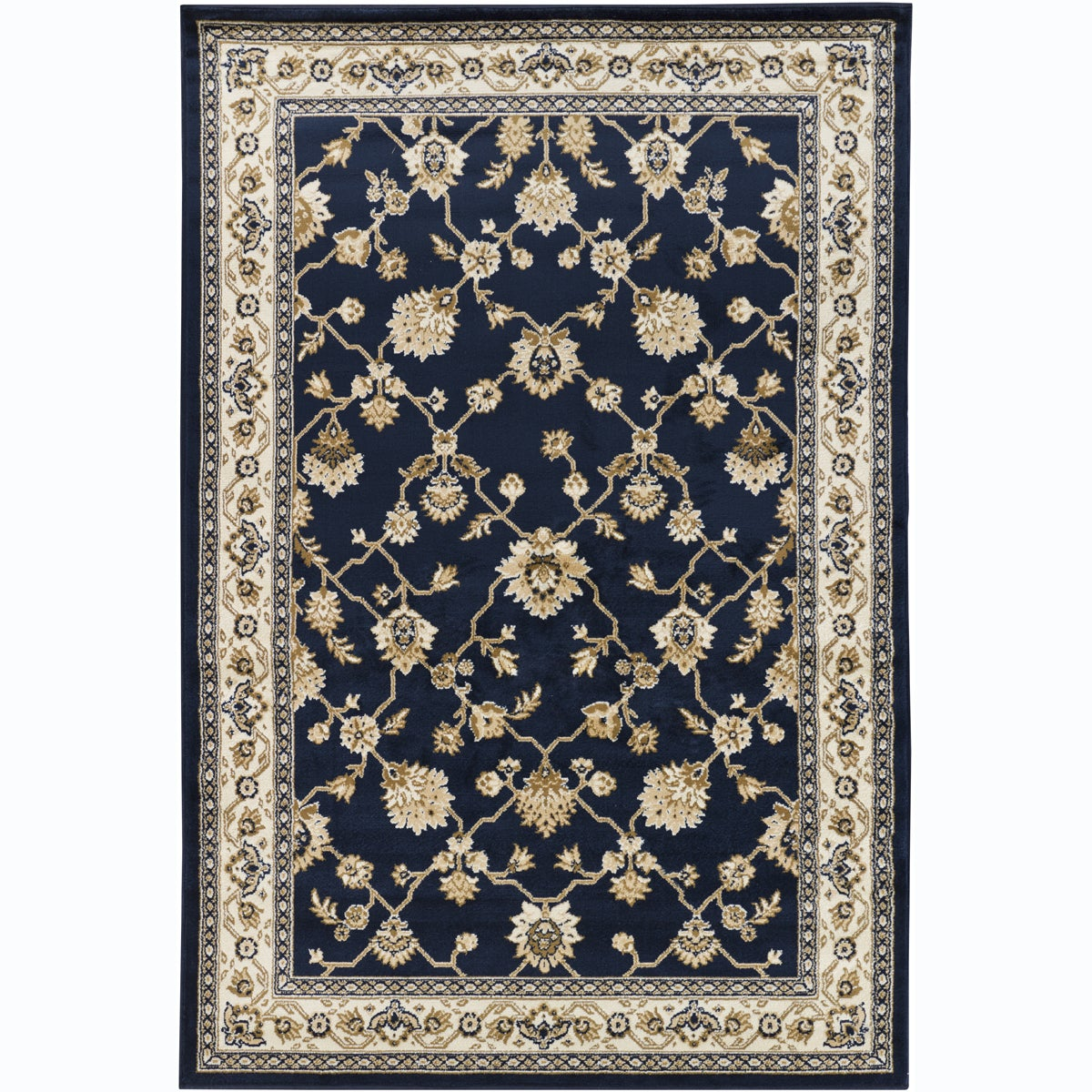 Artist 39 s loom indoor traditional oriental rug 8 39 x 11 39 2 for Blue and white oriental rug