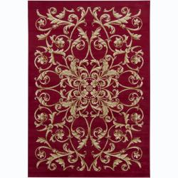Artist's Loom Indoor Transitional Floral Rug (4' x 6')