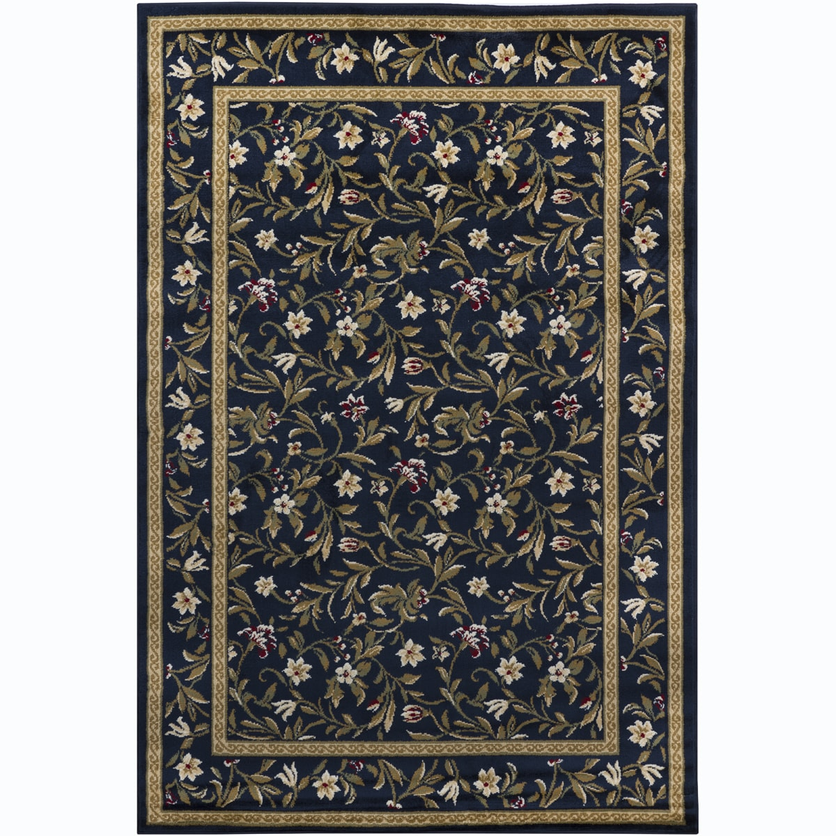 Artist's Loom Indoor Transitional Floral Rug (5'3 x 7'9) - 5'3 x 7'9