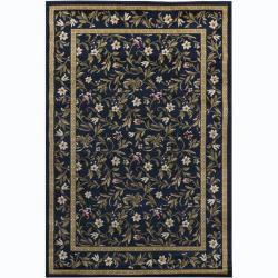Artist's Loom Indoor Transitional Floral Rug (5'3 x 7'9) - 5'3 x 7'9 - Thumbnail 0