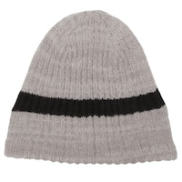 Minus33 Unisex 'Timber' Tan Stripe Merino Wool Lightweight Beanie Hat