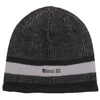 Minus33 Unisex 'Granite' Black/ Grey Merino Wool Lightweight Beanie Hat