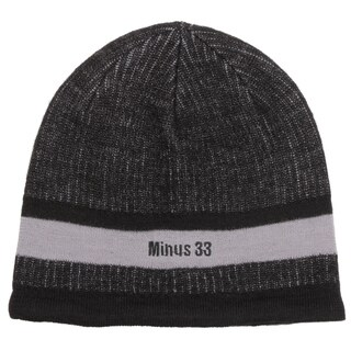 Minus33 Unisex 'Granite' Black/ Grey Merino Wool Lightweight Beanie Hat