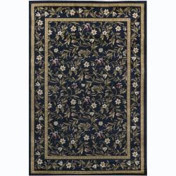 Artist's Loom Indoor Transitional Floral Rug (8' x 11'2) - 8' x 11' - Thumbnail 0