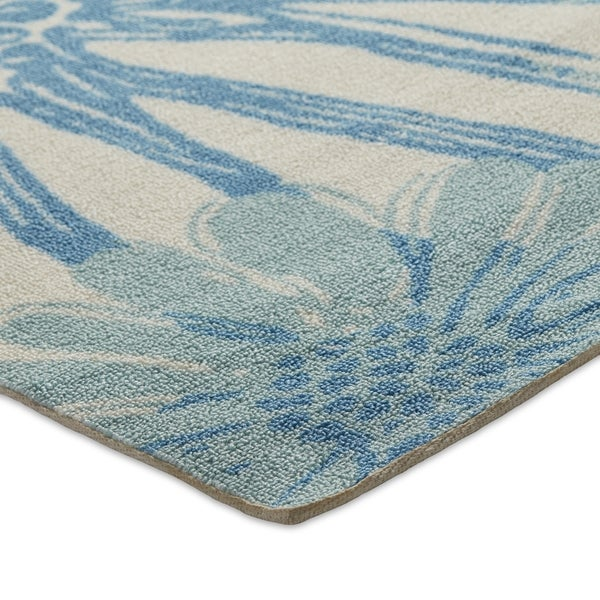 Nourison Home and Garden Blue Indoor/ Outdoor Rug (7\'9 x 10\'10 ...