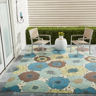 Link to Nourison Home & Garden Floral Indoor / Outdoor Area Rug Similar Items in Rugs
