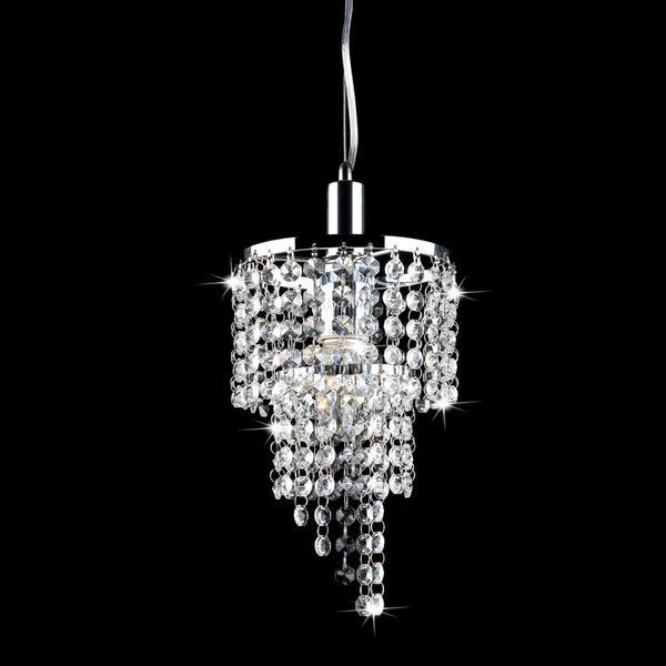 Galina Crystal and Chrome Pendant Chandelier