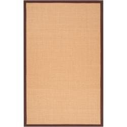 Woven Brown Hillsborough West Natural Fiber Sisal Rug (5' x 7'9)