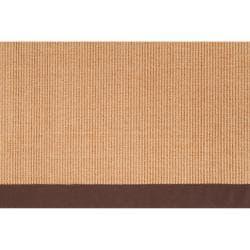 Woven Brown Hillsborough West Natural Fiber Casual Sisal Rug (9' x 12') - Thumbnail 1